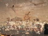 Стара картина підрамник на кілках 75х120см, фото №11