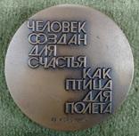Настольная медаль В.Г.Короленко 1981г., фото №3