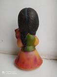 Резиновая игрушка. Девочка с корзиной. Клеймо СССР., фото №5