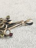 Массивная серебряная подвеска с самоцветами (серебро 925 пр, вес 16 гр), фото №7