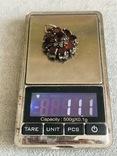 Серебряный кулон Цветок с гранатами (серебро 925 пр, вес 11,1 гр), фото №9