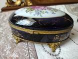 Фарфоровая шкатулка Limose , Франция, фото №7