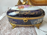 Фарфоровая шкатулка Limose , Франция, фото №2