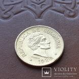 Золото 5 песо 1928 р.  Колумбія, фото №3