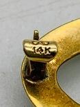 Брошь. Золото эмаль камень., фото №6