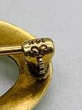 Брошь. Золото эмаль камень., фото №7
