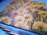 Картина маслом 20х20 Одуванчики, фото №3