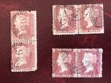 Сцепки марок Великобритании. Красный пенни., фото №2