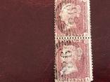 Сцепки марок Великобритании. Красный пенни., фото №3