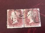 Сцепки марок Великобритании. Красный пенни., фото №4