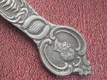 Посеребрённая сувенирная ложка, фото №6