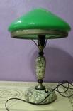 Настольная лампа  зеленый плафон, фото №2