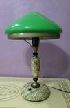 Настольная лампа  зеленый плафон, фото №3