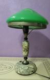 Настольная лампа  зеленый плафон, фото №4