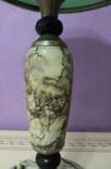 Настольная лампа  зеленый плафон, фото №5