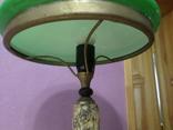 Настольная лампа  зеленый плафон, фото №10