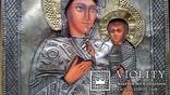 Ікона Богоматір, латунь 31х27 см, фото №4
