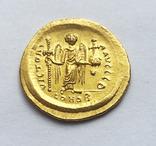 Солид Юстина 1. Византия. UNC., фото №3