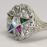 Масонское дамское золото кольцо, фото №4