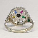 Масонское дамское золото кольцо, фото №6