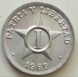 1 сентаво 1969 г. Куба, фото №2