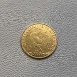 Франция 10 франков 1910 год 900' 3,2 грамма золота, фото №3