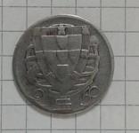 Португалия 2/5 эскудо 1944г серебро, фото №2