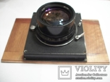 Объектив индустар-37 вместе с затвором с деревянной камеры, фото №3