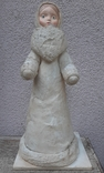 Снегурочка папье-маше,рост 34 см, фото №3