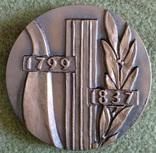 Настольная медаль А.С.Пушкин 1974г., фото №3