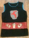 Крестоносец - теплая шерстяная безрукавка с ремнем, фото №4