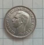 3 пенса 1949г серебро (брак при чекане) Австралия, фото №3