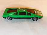 Модель, моделька зелёного гоночного автомобиля., фото №4