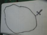 Серебрянная цепочка с крестиком, фото №2