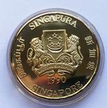 Набор монет 10, 250 и 500 долларов. Сингапур., фото №6