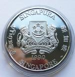Набор монет 10, 250 и 500 долларов. Сингапур., фото №8