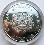 Набор монет 10, 250 и 500 долларов. Сингапур., фото №10