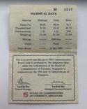 Набор монет 10, 250 и 500 долларов. Сингапур., фото №12