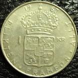 1 крона Швеція 1967 срібло, фото №3