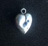 Старинный кулон сердечко. Клеймо «А», фото №4