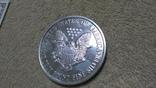 Американская Шагающая Свобода серебро+(эмаль)2001 год,Аmerican Historic Society, фото №7