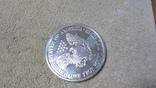 Американская Шагающая Свобода серебро+(эмаль)2001 год,Аmerican Historic Society, фото №8