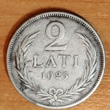 Латвия ,1925 год,2 лата, фото №3