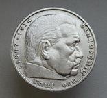 5 марок 1935 г. (J), Третий рейх, серебро, фото №8