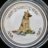 2 Доллара 2006 Года Собаки Колоризированая, Австралия, фото №2