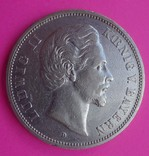 1875 год, 5 марок, Бавария,, фото №2