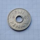 Фиджи, 1 пенни 1967 г., фото №2