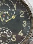 Авиационные часы АЧХ с позолоченным механизмом, фото №6
