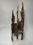 Старинная подставка для бумаг бронза, фото №4
