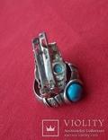 Комплект, серебро 925°, трезубец, фото №5
